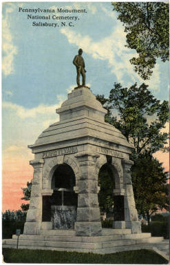Pennsylvania Monument, National Cemetery, Salisbury, N.C.