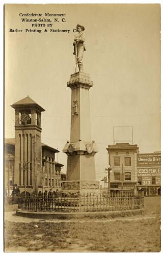 """""""Confederate Monument, Winston-Salem, N.C."""""""