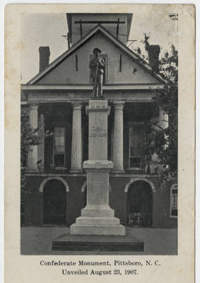 Confederate Monument, Pittsboro NC