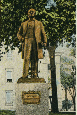Postcard with McIver Statue in Raleigh