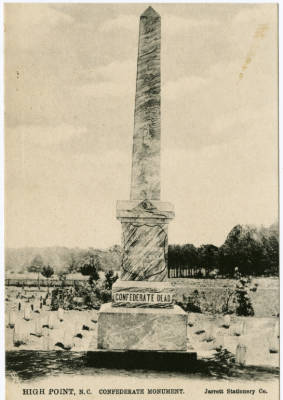 High Point, N.C. Confederate Monument