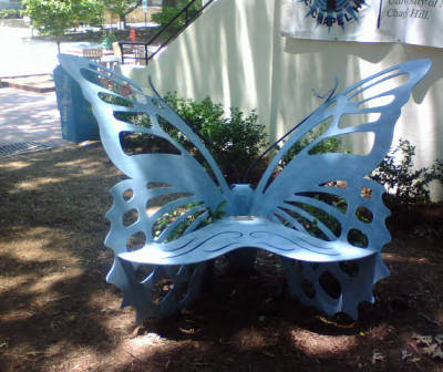 Eve Carson Memorial Butterfly Bench, University of North Carolina - Chapel Hill