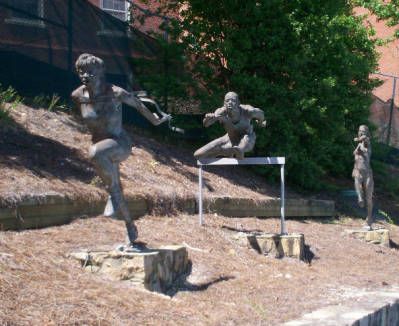 Belk Track Statues: The Javelin Thrower, The Hurdler, The Finish Line, UNC Chapel Hill