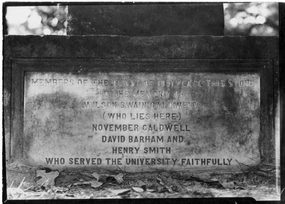 Monument to November and Wilson Caldwell,