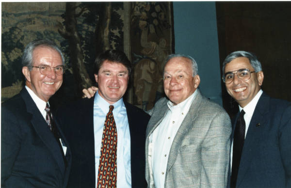Woody Durham, Charlie Justice, and others at unknown event