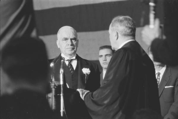Luther H. Hodges swearing-in ceremony