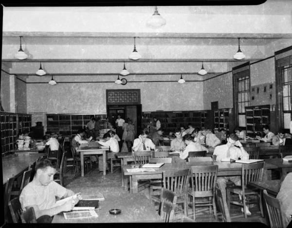 Reserve and general reading room, UNC University Library