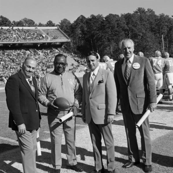 Charlie Justice, Morris Mason, and others at UNC Homecoming game