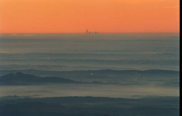 View of Charlotte from Grandfather Mountain