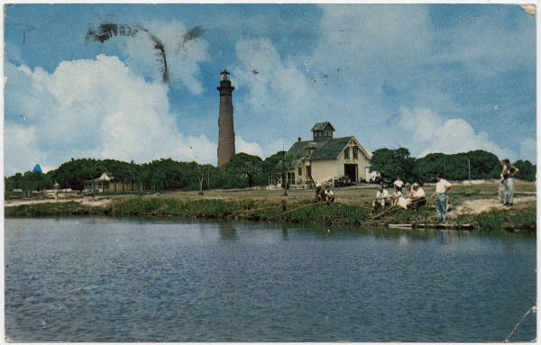 Currituck Beach Lighthouse at Corolla on Outer Banks of N.C.
