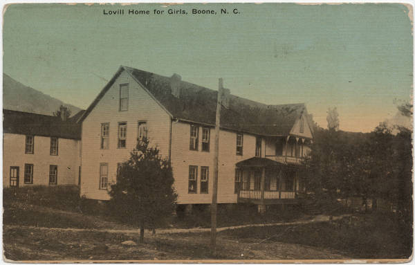 Lovill Home for Girls, Boone, N. C.