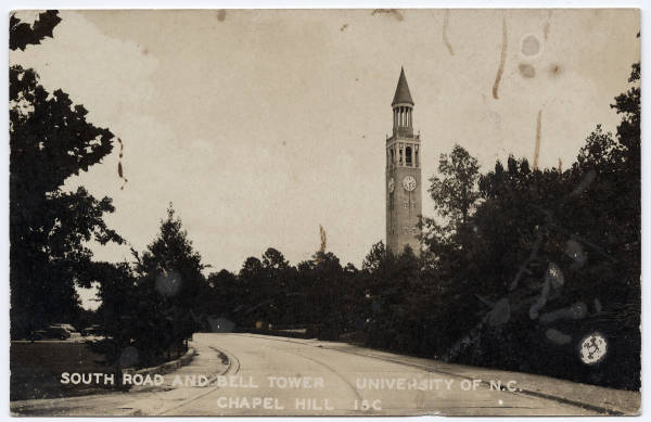 South Road and Bell Tower, University of N.C., Chapel Hill