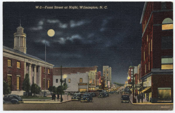 Front Street at Night, Wilmington, N.C.