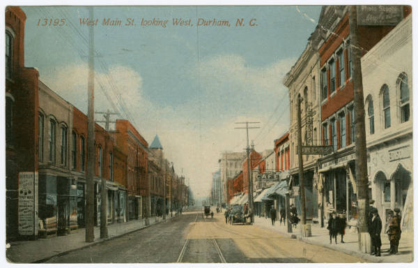 West Main St. looking West, Durham, N.C.