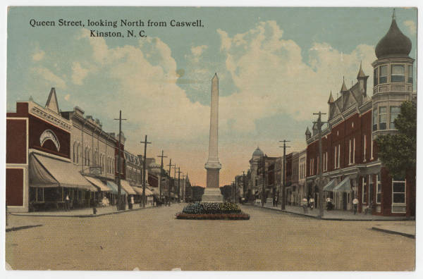 Queen Street, looking North from Caswell, Kinston, N.C.