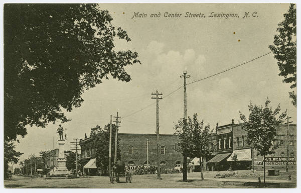 Main and Center Streets, Lexington, N.C.
