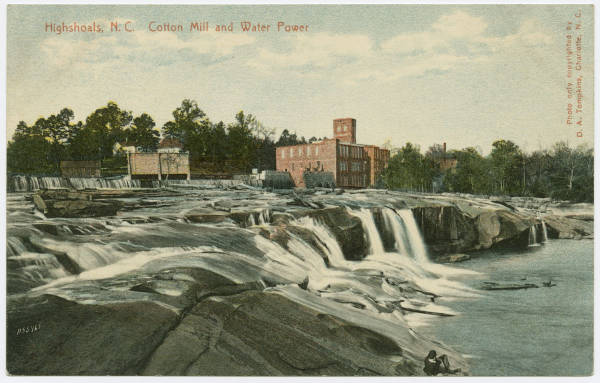 Cotton Mill and Water Power, Highshoals, N.C.
