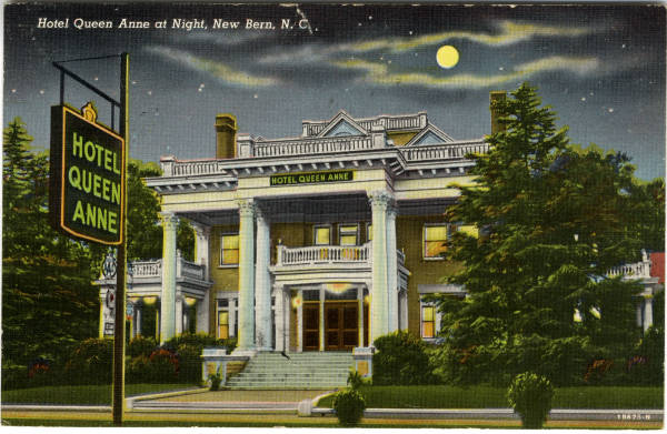 Hotel Queen Anne at Night, New Bern, N.C.