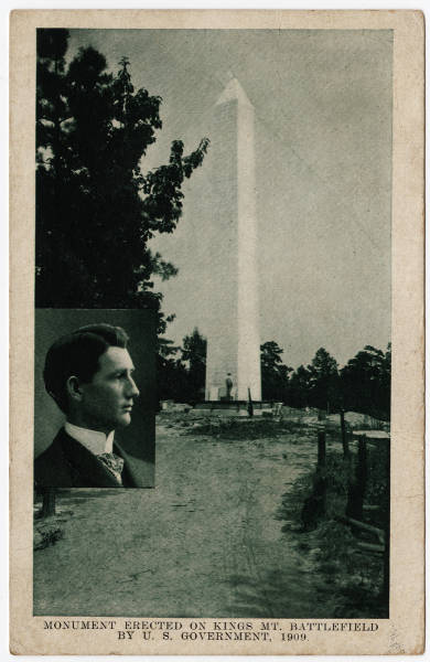 Monument Erected on Kings Mt. Battlefield by U.S. Government, 1909