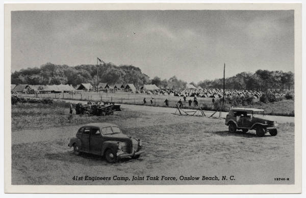 41st Engineers Camp, Joint Task Force, Onslow Beach, N.C.