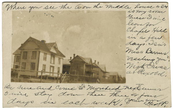 [Houses at Swansboro or Morehead City, N. C.]