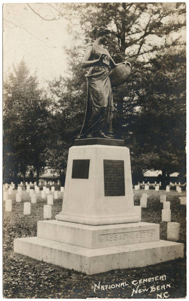 [Massachusetts Monument, National Cemetery, New Bern, N. C.]