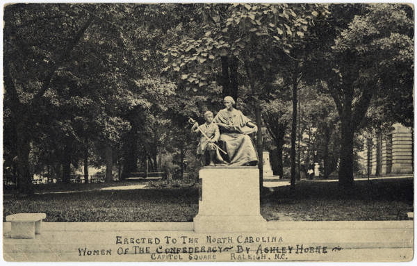 Erected to the North Carolina Women of the Confederacy by Ashley Horne Capitol Square, Raleigh, N.C.
