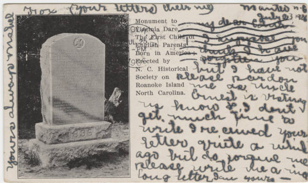 [Monument to Virginia Dare, Roanoke Island, N.C.]