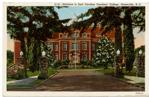 Entrance to East Carolina Teachers' College, Greenville, N.C.