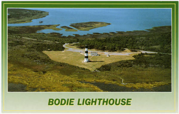 An aerial view of Bodie Lighthouse, NC