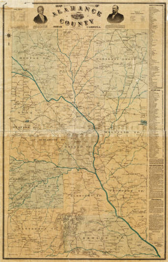 Map of Alamance County, North Carolina (William Luther Spoon)