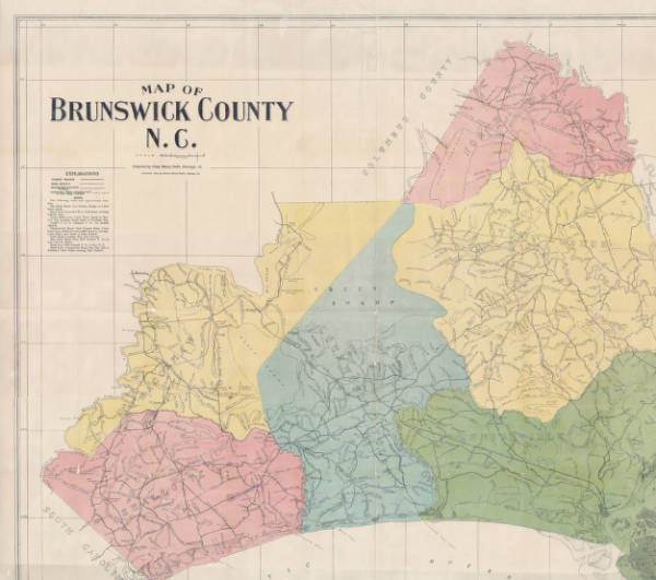 Map of Brunswick County, NC (Charles Henry Smith)