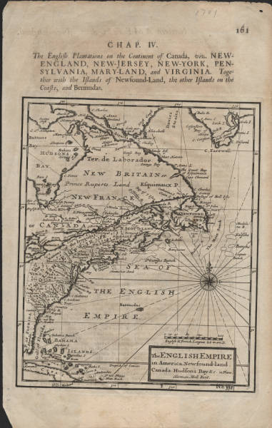 The English empire in America: Newfound-land  Canada  Hudsons Bay  &c. in plano