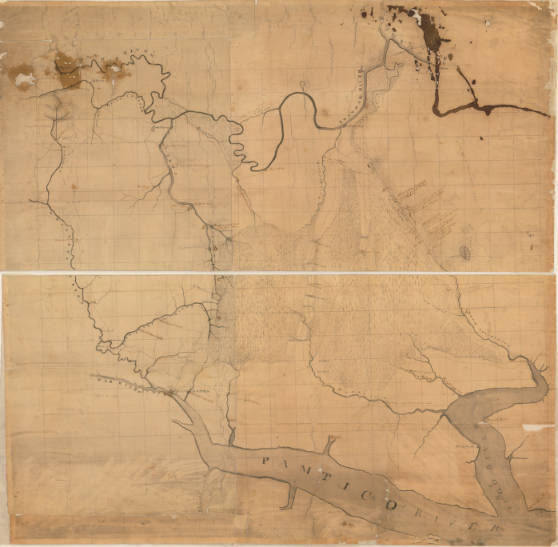 [Country between the Roanoke and Pungo rivers, surveyed by Jonathan Price and Woodson Clements, Esq., under direction of Archibald Debow Murphey].