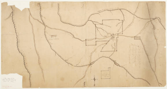 Later copy of the John Daniel map of Nov. 7, 8, 1792
