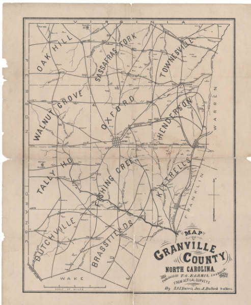 Map of Granville County, North Carolina