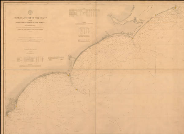 General chart of the coast no. XI from Cape Hatteras to Cape Romain