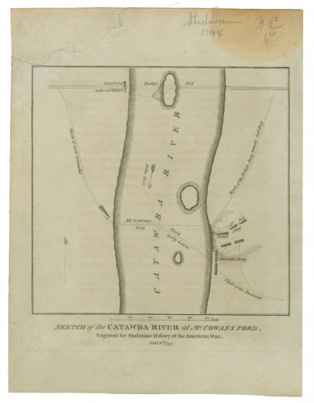 Sketch of the Catawba River at McCowans Ford