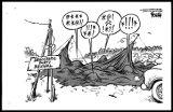 Dwane Powell Cartoon, March 5, 1985