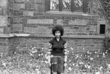 Alice Walker: Outside by church. New Haven, Conn. (AWaP 1-76-4 #76/77)