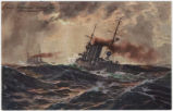 [German battleship postcard series]