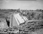 City Dam under construction in Burlington, N.C.