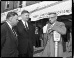 1960 N.C. gubernatorial campaign: Terry Sanford, Democratic candidate for Governor attends opening...