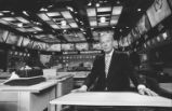 David Brinkley at news desk