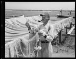 Man with fishing nets