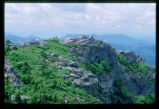 Grandfather Mountain overlook with tourists