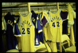 Lakers basketball, Kupchak and Worthy jerseys