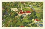 Airplane View of Mitchell College, Statesville, N.C.