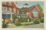 Baptist Church and Front of Spilman Dormitory, Mars Hill College, Mars Hill, N.C.