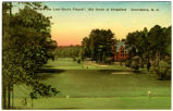 """Where the Last Shot's Played"", 18th Green at Sedgefield  Greensboro, N.C."